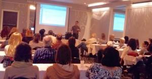 Marco Hanson speaking at AATIA meeting on Nov. 14, 2015